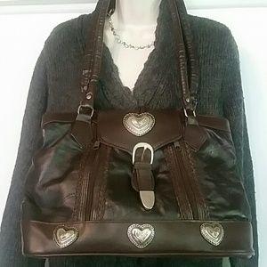 Handbags - Leather & Silver Bag